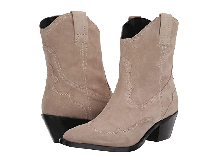 AllSaints Shira Western Boots in Stone Suede
