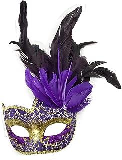 purple venetian masquerade masks