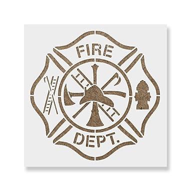Maltese Cross Fire Department Stencil - Reusable Stencils for Painting - Create DIY Maltese Cross Fire Department Home Decor