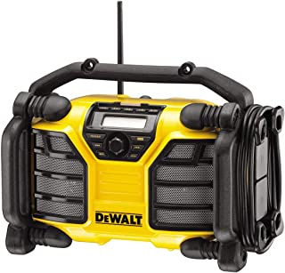 Dewalt DCR017-QW DCR017 Site Radio with Charger Function XR-Li-Ion Battery or Mains Operated, 230 V, Yellow