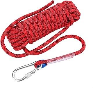 Alomejor Cord/ón de 12 mm Panchute cord/ón de paraca/ídas de Nylon Paracord con Hebilla Cosida y mosquet/ón para Escalar monta/ñas