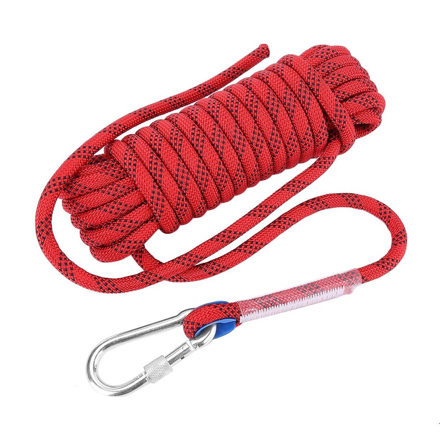仲間見つけたクローンアウトドア クライミングロープ サバイバルコード 多目的ロープ 高強度 耐摩耗 カラビナ付 12mm 2100kgまで サバイバル/登山用ロープ
