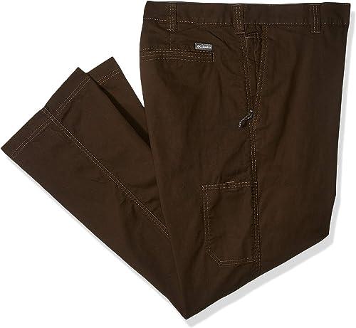 Columbia Men's Big and Tall Flex ROC Comfort Stretch Casual Pant, bark, 46x32