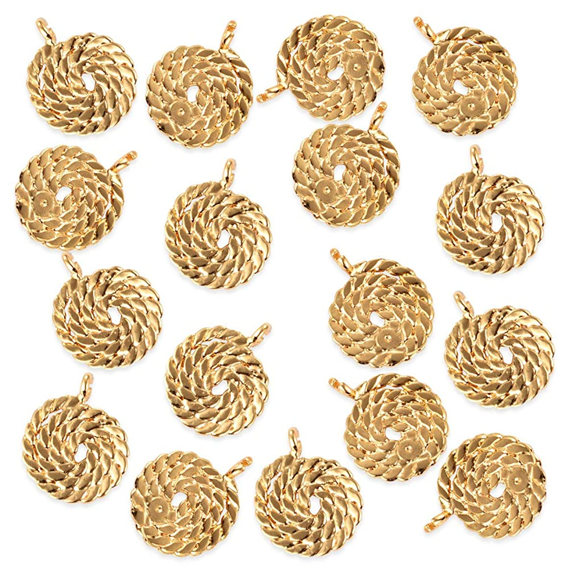 20Pcs Gold Lollipop Earring Charms Pendants Craft Supplies for Crafting, Jewelry Findings DIY Necklace Bracelet Making Accessory