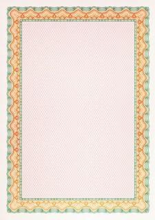 Decadry OSD4056 25F de papier pour certificat 115 g/m² Orange/turquoise Format A4