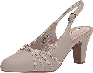 حذاء نسائي من Easy Street، مصنوع من الكتان بلون الشوفان، بعرض 19.5 سم