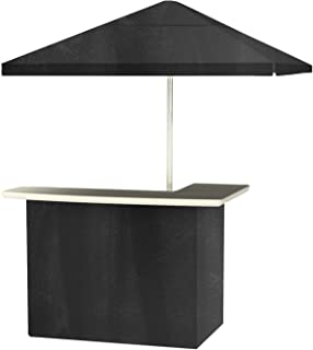 Best of Times 2001W2411 Chalk Board Portable Bar and 8 ft Tall Square Umbrella, One Size, Black