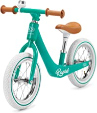 kk Kinderkraft Bicicletta RAPID, Leggero Bici Senza Pedali, Stile Retro, in Magnesium, per Bambini fino 3 Anni, Verde