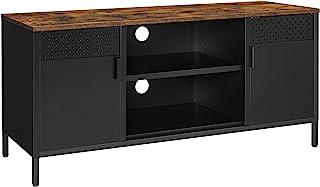 SONGMICS Meuble TV, Support de télévision, Buffet bas, avec 3 étagères réglables, pour TV jusqu'à 55 pouces, pour salon, c...