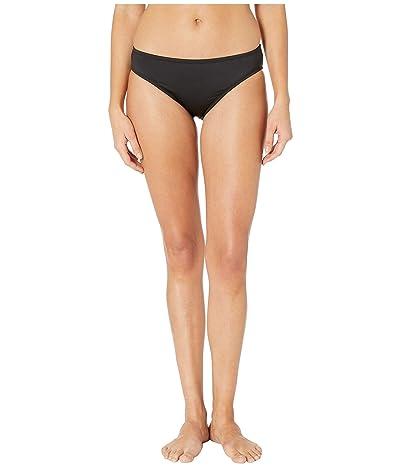 Kenneth Cole Solid Mid Bikini Bottoms (Black) Women