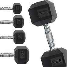 Body Revolution Hex Dumbbells - Rubber omhulde Home Gym zeshoekige gietijzeren hand halters Workout gewichten - Range van ...
