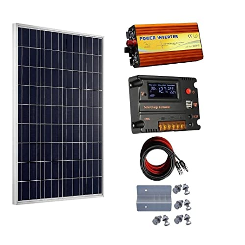 Able 200w Etfe Solar Panel Kits For Caravan Rv Boat 12v Battery Charge+1000w Inverter Solar Panels