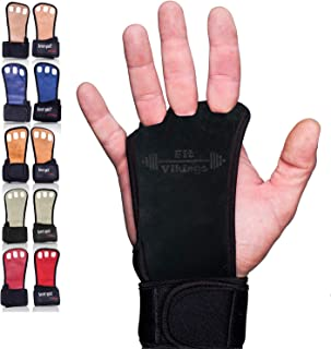 Gymnastics Grips - Crossfit Gloves - Workout Gloves with Wrist Wraps - Weight Lifting Gloves - Gym Gloves for Pull Up - Fi...