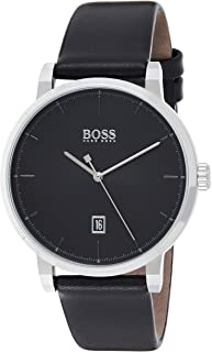 Hugo Boss Men's Black Dial Black Leather Watch - 1513790
