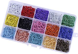 CCINEE 15 Colors Calabash Sewing Pins,22mm Safety Pins, Pin for Clothing Crafting Use Art Craft Sewing Jewelry Decorative ...