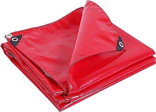 DONGYUER Tente extérieure bache imperméable à l'ombre Rouge Salut couché épaissir antipluie écran Solaire bache de Pluie Bache de Pluie Mariage bache Rouge,rouge,3  4m