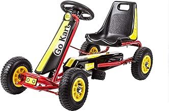 Kinbor Racing Pedal Go Kart, Kids 4 Wheels Riding Car Crazy Cart with Adjustable Seat