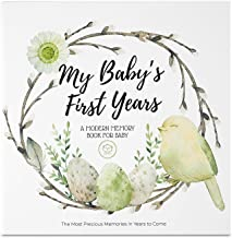 Baby First 5 Years Memory Book Journal - 90 Pages Hardcover First Year Keepsake Milestone Newborn Journal for Boys, Girls ...