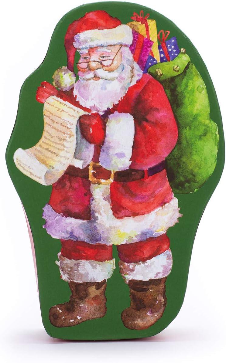 Carton D/écoratif des F/êtes Bo/îte en Forme De P/ère No/ël avec Couvercle Ajust/é Bo/îte De Cadeau Et De Rangement Bo/îte De Veille De No/ël Et De Rangement Tri-coastal Design Santa Claus