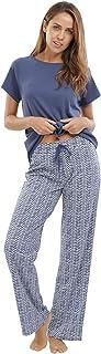 jijamas Incredibly Soft Pima Cotton Women's Pajamas Set - Short Sleeve Set