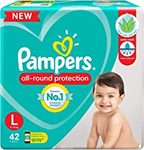 Pampers All round Protection Pants, Large size baby diapers (LG), 42 Count, Anti Rash diapers, Lotion with Aloe Vera