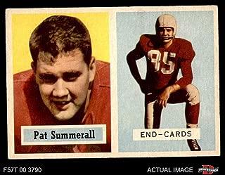 1957 Topps # 14 Pat Summerall Chicago Cardinals-FB (Football Card) Dean's Cards 5 - EX Cardinals-FB
