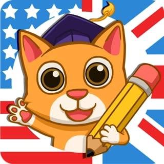 Fun English: 英語を学ぶお子様向け言語レッスンと教育ゲーム(米国と英国英語)- 研究英語の初歩の単語とフレーズの読み方、会話、スペル、語彙、文法と発音を学習