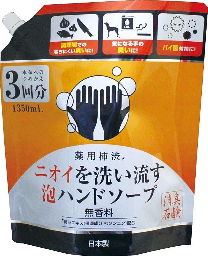 痛み講師音声薬用柿渋ニオイを洗い流す泡ハンドソープつめかえ大容量