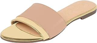 Catwalk Women's Metallic Detail Slides