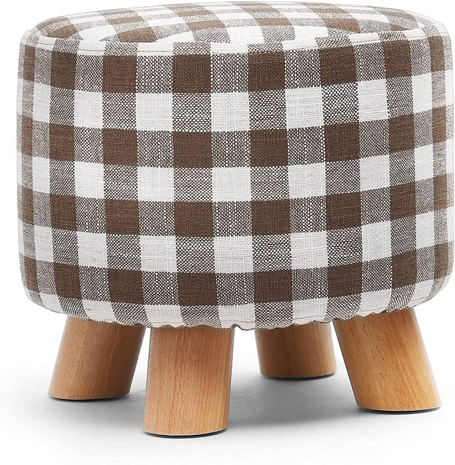 Solid Wood Stool Home Low Stool Fabric Sofa Bench Bench Stool Fashion Creative shoes Bench