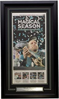 Philadelphia Eagles Foles Framed Feb 9 2018 One Magical Season Inquirer Page E24
