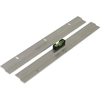 . 8 x 8 cm Juego de 6 plata aluminio Soporte de espejo para colgar fotos y soporte de pared Set de fijaci/ón de aluminio Dibond completo para im/ágenes y espejos alta resistencia