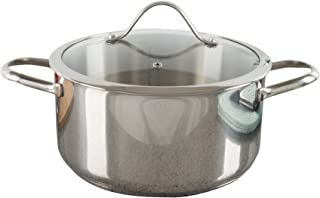 6 Quart Stock Pot-Stainless Steel Pot with Lid-Compatible with Electric, Gas, Induction or Gas Cooktops-Cookware by Classic Cuisine
