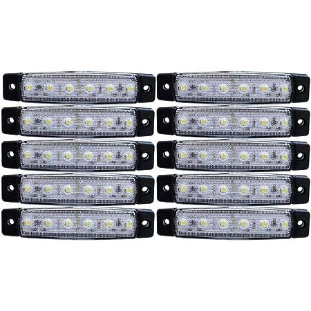 10x Led Lichter Weiß Seitenbegrenzungsleuchten Für Lkw Anhänger Wohnwagen Chassis Lastwagen 24 V Auto