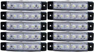10x LED Lichter, weiß, Seitenbegrenzungsleuchten für LKW, Anhänger, Wohnwagen, Chassis, Lastwagen, 24 V