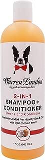 Warren London 2in1 Pet Shampoo Plus Conditioner with Vitamin E & Shea Butter - 17oz & 1 Gallon Sizes - Made in USA