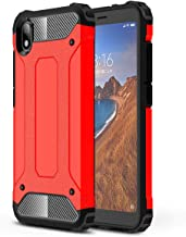 TenYll Case for Xiaomi Redmi 7A, Full-body Rugged Case TPU + PC,durable,Four corners thickened,Suitable for Xiaomi Redmi 7A -Red
