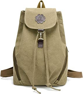 Tom Clovers Canvas Backpack Retro Style Travel Satchel School Work Bag
