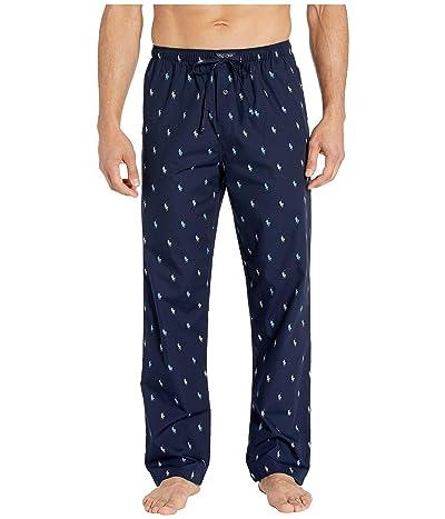 Polo Ralph Lauren 40s Woven PJ Pants (Cruise Navy/Cruise Navy Piping/Blue Lagoon/Nevis AOPP) Men