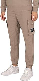 Calvin Klein Jeans Men's Cargo Badge Fleece Joggers, Grey, XL