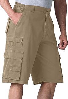 Boulder Creek Men's Big & Tall Side-Elastic Twill Cargo Shorts