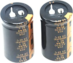 2pcs 10000uF 63V Audio Hi-Ffi Electrolytic Capacitor