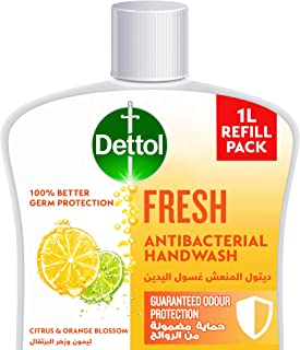 Dettol Fresh Handwash Liquid Soap Refill for effective Germ Protection & Personal Hygiene (protects against 100 illness ca...