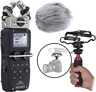 Zoom H5 Four-Track Handy Recorder Kit with Deadcat Windscreen, Shockmount, Camera Mount and Mic Grip