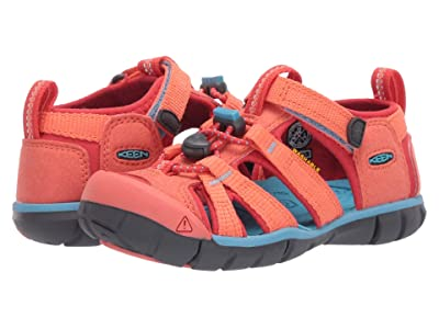 Keen Kids Seacamp II CNX (Toddler/Little Kid) (Coral/Poppy Red) Girls Shoes