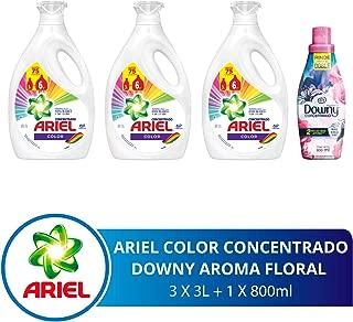 Ariel + Downy Detergente Líquido, 9 l y Downy Floral Suavizante de Telas, 800 ml