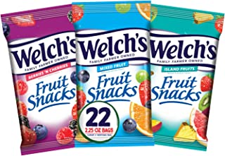 Welch's Fruit Snacks, Variety Pack with Mixed Fruit, Island Fruits & Berries 'n Cherries, Gluten Free, 2.25 oz Bags (Pack ...