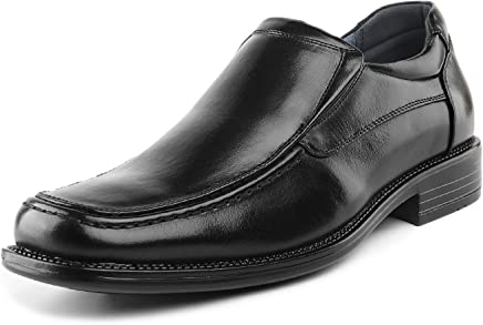 Bruno Marc Men's Leather Lined Square Toe Dress Loafers Shoes