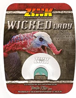 WICKED LADY Double Reed Turkey Call Custom Built Diaphragm ~ ZINK CALLS