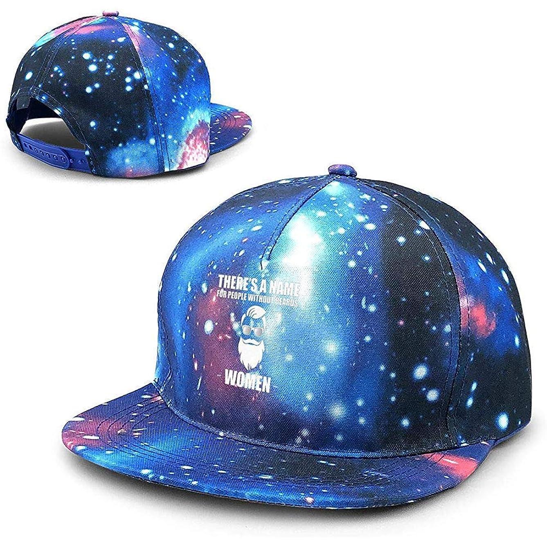 スクレーパー失うセンターひげのない女性のための名前があります女性ユニセックス星空フラット野球帽調整可能な帽子フラットビル野球キャップ